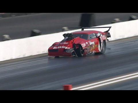 Pete Farber Crash @ 2014 NHRA St. Louis