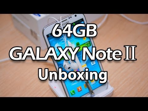 64GB Marble White Samsung Galaxy Note 2 Unboxing Part 1