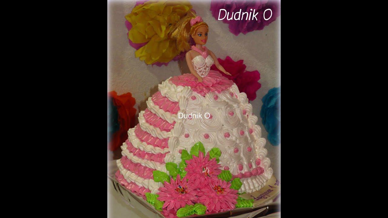 торт кукла барби из крема фото