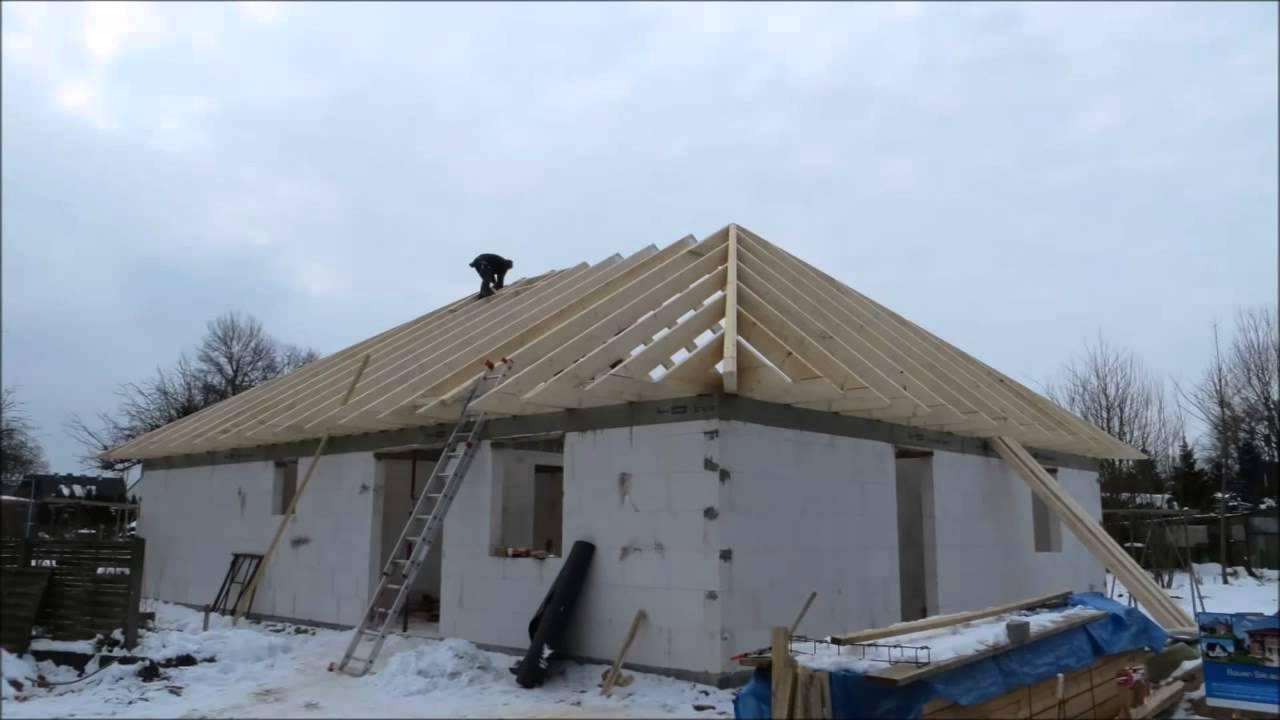 Четырехскатная вальмовая крыша - YouTube