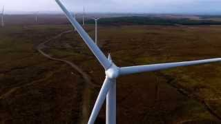 Aerial Video - Whitelee Wind Farm, Glasgow, Scotland