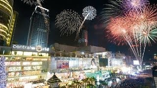 New Year Celebration, AIS Countdown--Fireworks @ Central World Plaza, Bangkok, Thailand
