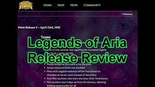 Release Point 5 Review - Legends of Aria Life - Join Us!