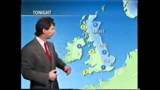 BBC Weather 22nd December 1993 John Kettley