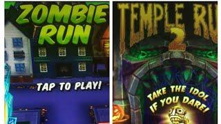 Temple Run 2 Spooky Summit Vs Zombie Run(Halloween Special Games)