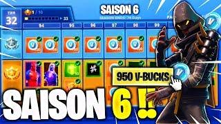 CONTENUE COMPLET DU PASSE DE COMBAT SAISON 6 sur Fortnite !! PRIX & SKIN *SECRET* D'ARME !