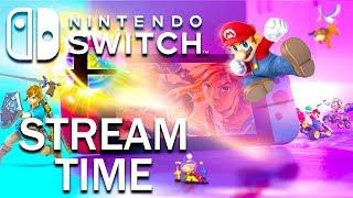 Mario Kart and Smash Bros Nintendo Switch Stream