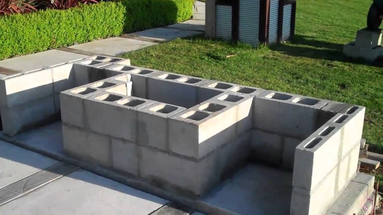 Building my outdoor fireplace By C L - YouTube