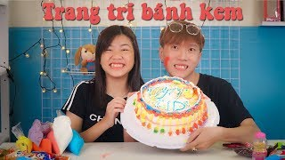 Thử thách Trang Trí Bánh Kem Sinh Nhật cùng Yến Nhi | NYN KID
