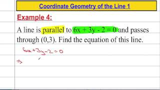 Core Maths: Coordinate Geometry of the Line 1