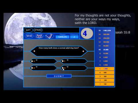 Who Wants To Be A Millionaire Vb.net(update W  Sound) video