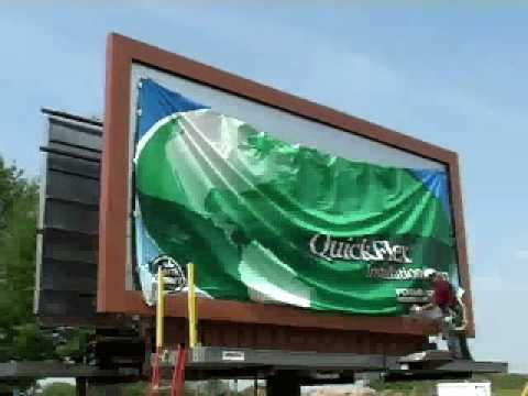 QuickFlex Single Sheet Billboard Installation