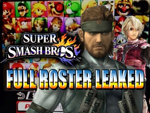 ALL CHARACTERS LEAKED - Super Smash Brothers 4