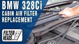How to Replace Cabin Air Filter 2000 BMW 328Ci