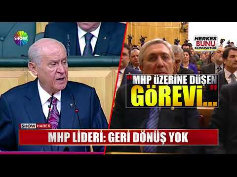 """MHP Lideri: """"Geri dönüş yok"""""""