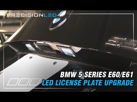 BMW 5 Series E60/E61 LED Licence Plate How To - 2003-2011
