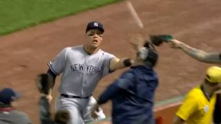 Aaron Judge crashes into stands for super catch
