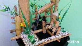 Pancuran bambu pak onthel muter kincir air /type G