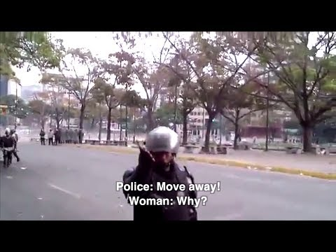 Venezuelan police attack woman while she films detentions in Caracas