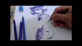 Drawing A Anime Girl With Watercolor Pencil ?