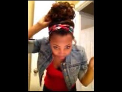 How To: Curly High Bun w/ Weave!