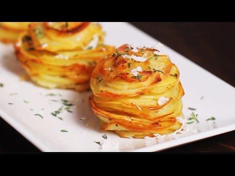 Parmesan Potato Stacks Recipe