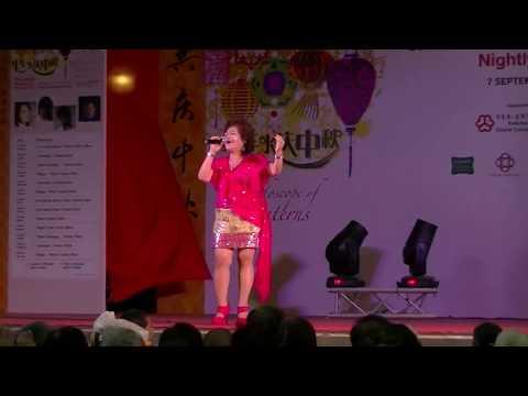 Mandarin Song 沒有愛怎麼活 By Maggie  - Singapore Getai 新加坡歌台  牛车水广场 Chinatown Mid-autumn Festival 2013 video