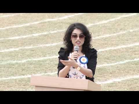 UBGoregaon Sports Day 2014-15 Speech By Chief Guest