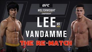 EA SPORTS UFC 2 - Bruce Lee v Jean Claude Van Damme II - THE RE-MATCH @60fps