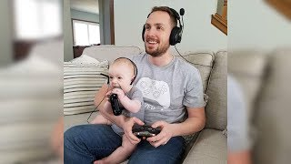 Hilarious Baby Copies Daddy - Cute Babies Copying Dad - Funny Baby Videos