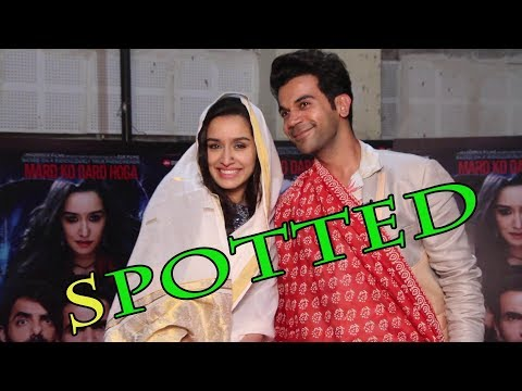 Shraddha Kapoor And  Rajkumar Rao Spotted Promoting Their Film Stree