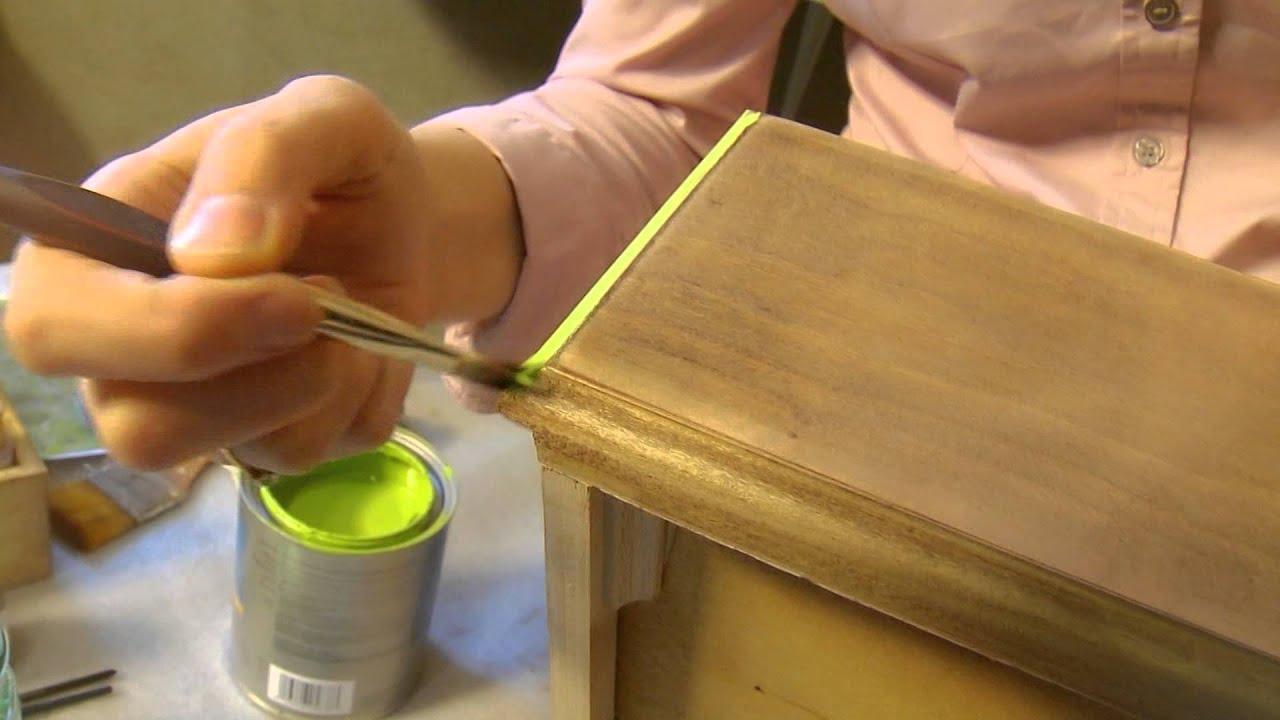 Покраска лаковой мебели своими руками