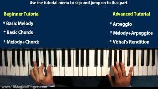 Tujh Mein Rab Dikhta Hain  Piano Tutorial / Lessons | Beginner & Advanced Piano Tutorial
