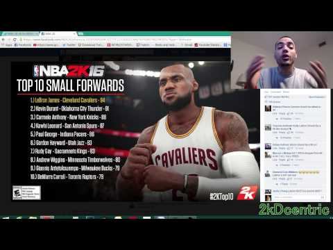 Nba 2k16 Top 10 Small Forwards! Lebron James, Kevin Durant, Carmelo Anthony