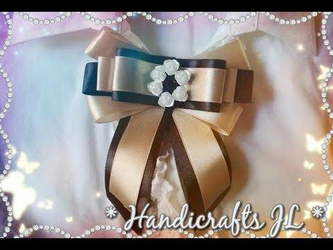 Moño de listón/ moño victoriano para blusas/ ribbon bow step by step