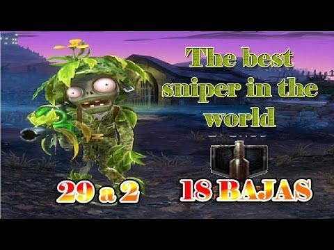 Plants vs zombies garden warfare The best sniper in the world Ola Pe