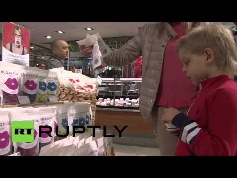 Russia: Tennis star Sharapova sweetens Moscow with confectionary line