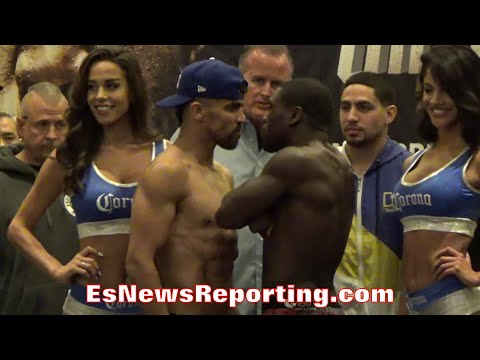 VICTOR ORTIZ VS ANDRE BERTO FACE OFF & WEIGH IN - EsNews Boxing