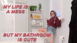 a busy day in my life + decorating my bathroom!