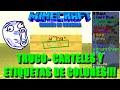 TRUCO - CARTELES Y ETIQUETAS DE COLORES ! Minecraft XBOX ONE / PS4 #27 TU19