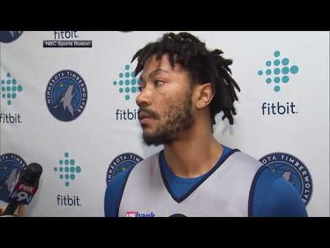 [FULL] Derrick Rose talks to media first time since trade to Timberwolves | NBA on ESPN