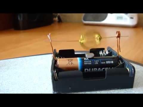 Как сделать моторчик на батарейке
