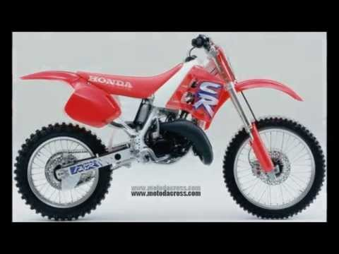 Evolution of Honda cr-125 from 1974 to 2007.