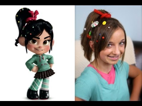 Wreck-It Ralph Hairstyle Tutorial - A CuteGirlsHairstyles Disney Exclusive Music Videos