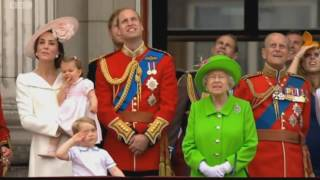 Queen's Birthday Flypast 2016 BBC coverage