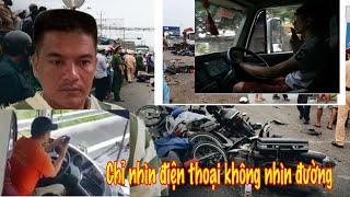 T,iết lộ lí do khác Tài xế Container gây tai nạn ở Bến Lức Long An