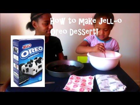 Making Jello Oreo No Bake Dessert