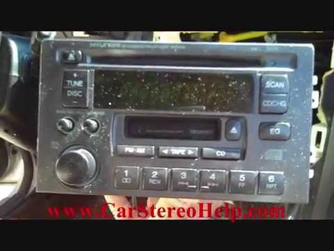 How to Hyundai XG350 car Stereo Removal 2002  - 2005 replace repair