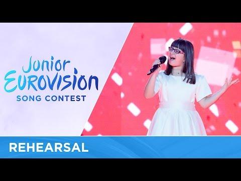 Klesta Qehaja - Besoj (Albania) - First Rehearsal - Junior Eurovision 2016