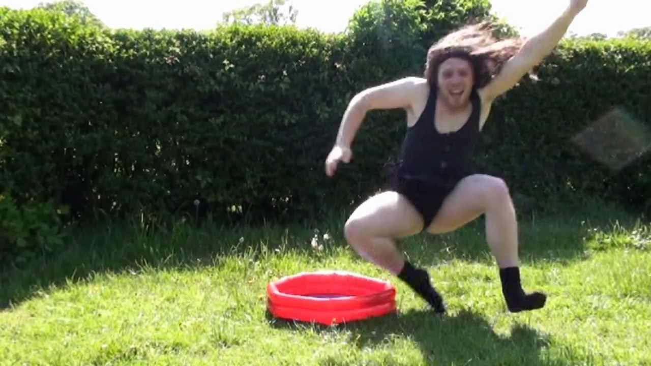 The worlds smallest swimming pool epic fail youtube for Epic pool show